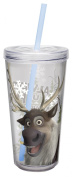 "Zak Designs FZND-M731 Disney's Frozen ""Olaf"" Tumbler with Straw, 470ml"