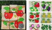 Simple Wood Building Blocks Fruits' World Pack of 9
