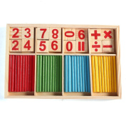 Feichen Toy Education Learning Counting Number Wooden Puzzle Activity Toys