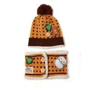 Fashion Cute Baby Kids Girls Boys Stretchy Warm Winter Knit Crochet Hat / Earflap Hat/ Beanie Hat, christmast hat with neckerchief, yellow