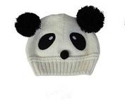 Fashion Cute Baby Kids Girls Boys Stretchy Warm Winter Knit Crochet Hat / Earflap Hat/ Beanie Hat, bear head hat, white
