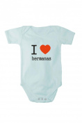 Romper baby bodysuit I love Sisters In different languages free bib