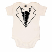 Fun Baby Vest Body Suit Tuxedo Design.