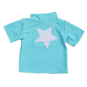 Light Blue Short Sleeve Swimshirt (Star) by Petit Crabe - 3 - 4 Years