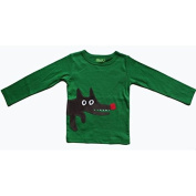 Wolf Applique Tee by Lily-Balou - 9 - 12 Months