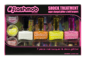 flashmob Nail Lacquers, Bold/ Super Charged Glitter, Shock Treatment