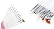 Brush for UV Gel / Nail Art Set of 12