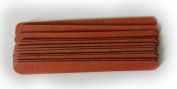 12 DOUBLE SIDED STRAIGHT NAIL FILES UK EMERY BOARD