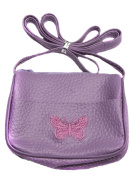 Little Girls Butterfly Embroidered Small Shoulder Handbag/Purse - Ideal Party Bag Fillers for Girls