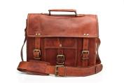 Urban Safari London Unisex Handmade Real Leather Satchel Laptop Bag 33cm Tan Brown Winchester Satchel