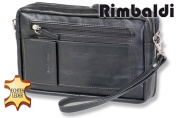 """Rimbaldi"" Big Business hand-/schoulder bag made from fine. high-quality cow-nappa leather in black"