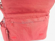 GFM Womens Multi Zip Pockets Fabric Lightweight Cross Body Bag Shoulder Bag Messenger Bag