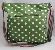 Green Polka Dot Spot Canvas Ladies Messenger Fashion Bag Handbag With Hanging Heart Gift