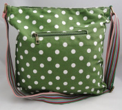Green Polka Dot Spot Canvas Ladies Messenger Fashion Bag Handbag With Hanging Heart Gift