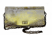 HiveBag Women's Shoulder Bag Weiss - Gold 28x15x4