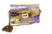 HiveBag Women's Shoulder Bag Lila-Gold 19x13x3