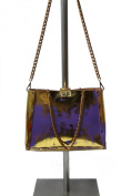 HiveBag Women's Shoulder Bag Lila-Gold 34x27x10