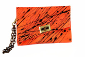 HiveBag Women's Shoulder Bag Orange-Schwarz 19x13x3