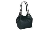 Maxima Milano Women's Genuine Italian Textured Leather Buckles Details Shoulder Bag / Handbag