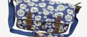 City Girl/Anna Smith Polka Dot, Daisy Flower (Floral) Satchel/ Ladies Girls Spot Print Large Shoulder Bag / School (University) Cross Body Bag