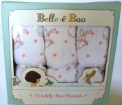 Belle & Boo 3 Cuddly Boo Flannels