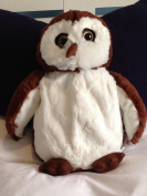 3D HOT WATER BOTTLE CUTE CUDDLY NOVELTY OWL LARGE 45cm