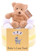 1 Single Tier Unisex Nappy Cake, Baby Shower Gift, Yellow Baby Hamper - FAST DELIVERY!