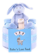 1 Single Tier Boys Nappy Cake, Baby Shower Gift, Blue Baby Hamper - FAST DELIVERY!