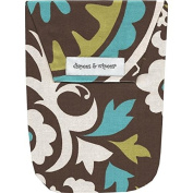 Nappy Wallet (Blue Medallion) by Diapees & Wipees - Blue Medallion
