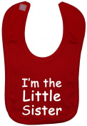 I'm The Little Sister Baby Feeding Bib Velcro Attached 0 to approx 3 Years
