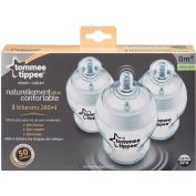 TOMMEE TIPPEE - Pack of 3 Baby Bottles 260ml 0m+ !!!