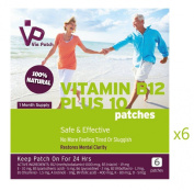 Vie Patch - VITAMIN B12 PLUS 10 - 36 Patches. No More Feeling Tired Or Sluggish. 100% Natural. 1 Month Supply