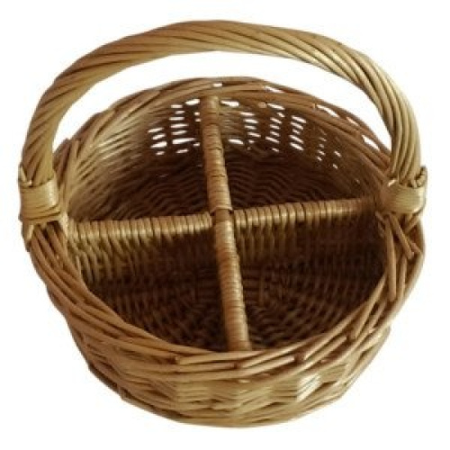 4 section round buff willow wicker condiment divided basket shipping is free ebay - Divided wicker basket ...