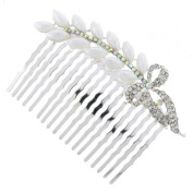 White Floral Branch Bridal Hair Comb