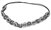 Silver Diamante Beaded Crystal Headband Vintage 1920s Flapper Prom 30s Races f62 Exclusively Sold By Starcrossed Beauty