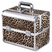 chinkyboo New Arrival Leopard Print Beauty Box Make Up Rose Vanity Case Cosmetic Nail Jewellery Case