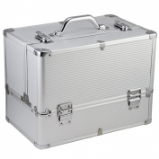 tinxs Professional Large Space Aluminium Beauty Cosmetic Makeup Case Toiletry Storage Nail Hairdressing Vanity Box