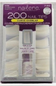 Nailene False Nails Tips 200 Curve Overlap 71292