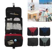 SAVFY Wash Bag with Hook - Mens Ladies Large Toiletry Wash Bag Toiletries Travel Make Up Mens Ladies Beauty Hanging Folding Storage Hanging Grooming Case