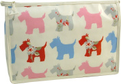 Vagabond Scottie Dog Oil Cloth Giant Holdall Washbag Toiletries