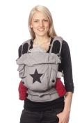 Hoppediz® BONDOLINO® Poplin grey/star - Baby Carrier