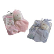 Cute Baby 2pk socks with bear comforter by Tick Tock