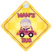 Nan's Taxi Car Sign Funny Novelty Gift / Present Baby on Board Style Sign