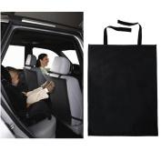 Kick Mats - Pack of 2 Backseat Car Protector Mats - Black