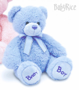 BabyRice New Baby Boy Soft & Cuddly Blue Teddy Bear