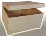 PFR40 BIG PLAIN WOOD KEEPSAKE SOUVENIRS MEMORY BOX CRAFT FOR DECOUPAGE CRAFT