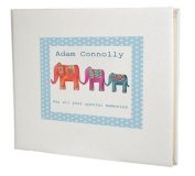 baby record book,baby memory book,baby Boy Guest Book,Elephant