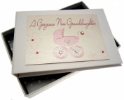 White Cotton Cards New Grand Daughter Tiny Photo Album