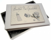 White Cotton Cards New Grandchild Tiny Photo Album
