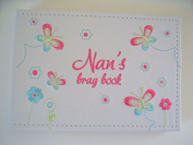 NAN'S BRAG book photo album embroidered flowers butterflies ideal gift